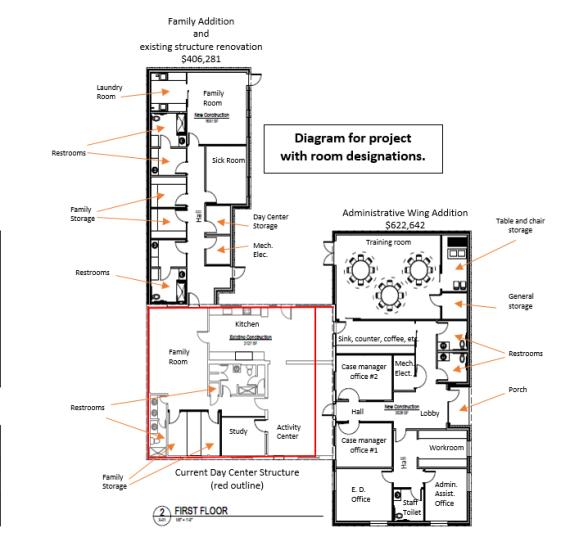 Day Center floor plan